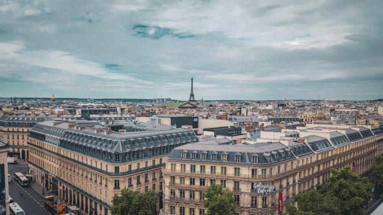 Header Eiffeltoren uitzicht vanaf galeries lafayette Parijs