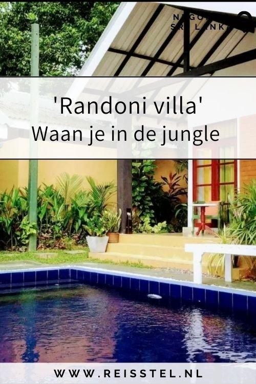 Reisstel.nl | 'Randoni villa' Waan je in de jungle | Negombo, Sri Lanka