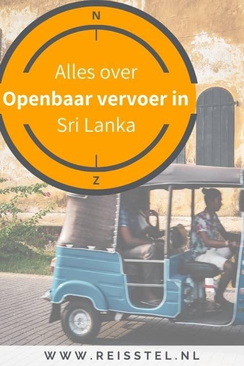 Alles over het openbaar vervoer in Sri Lanka - van trein tot Tuktuk