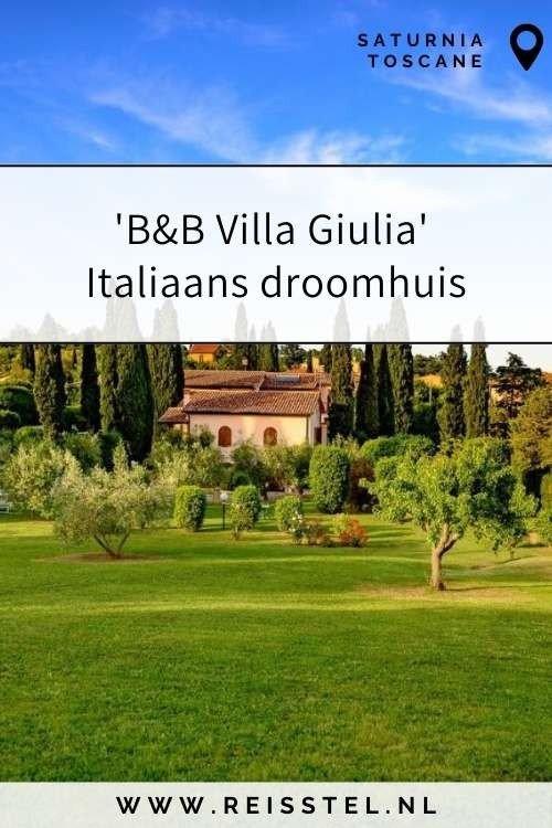 Rondreis Toscane | Villa Giulia terme di Saturnia