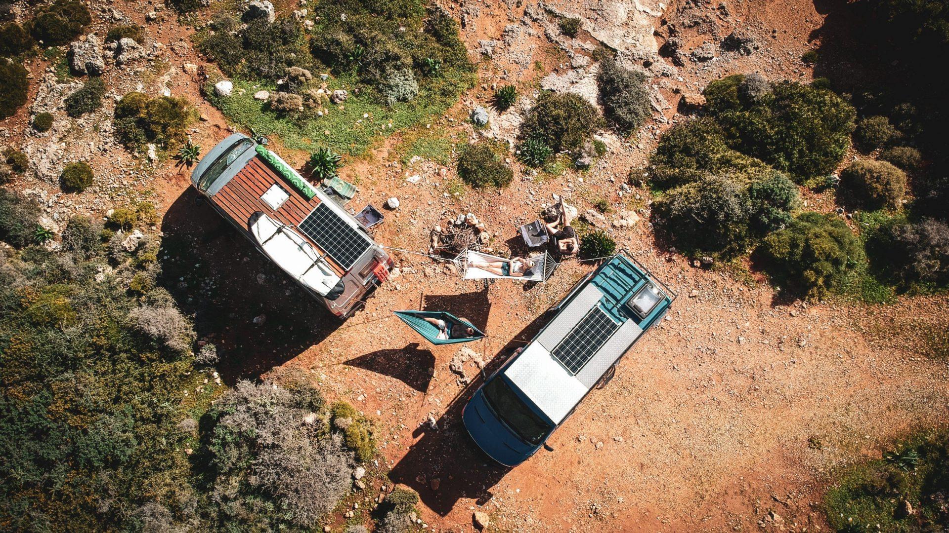 Reisverslag Europa week 26 | Bussen en hangmatten bovenaf
